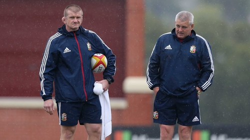 Graham Rowntree (left) has said the Lions must move on from Paul O'Connell's injury
