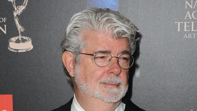 George Lucas wed his girlfriend of seven years over the weekend