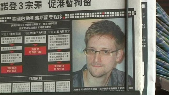 Edward Snowden left Hong Kong for Moscow on Sunday