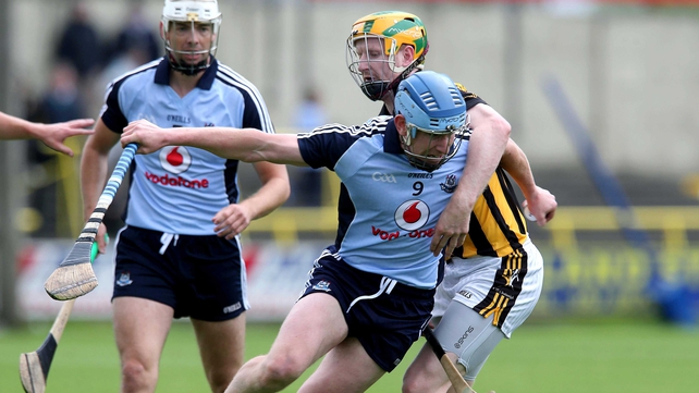 Kilkenny's Riche Power clashes with Joey Boland of Dublin