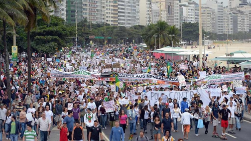 Protest in Brazil during the Confederations Cup have led to concerns about the World Cup