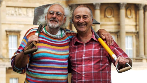 Professor Mick Aston with Time Team presenter Tony Robinson