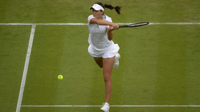 Laura Robson beat Maria Kirilenko 6-3 6-4