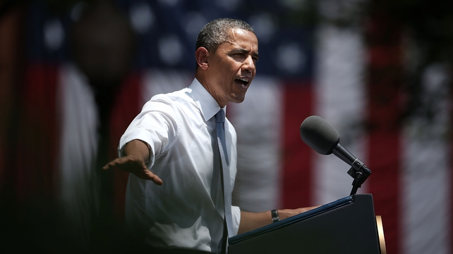 Barack Obama made the announcement at Georgetown University in Washington DC