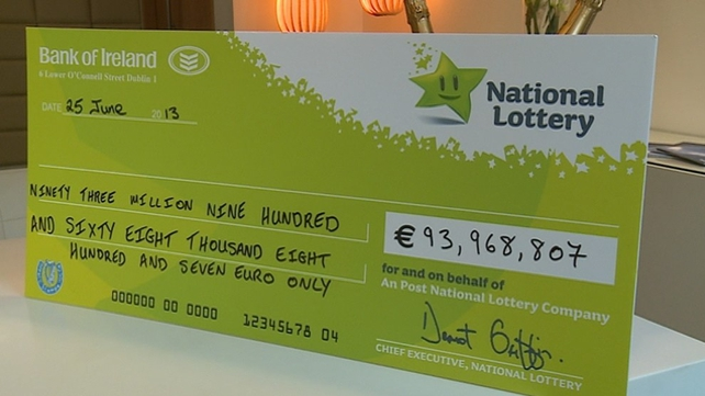 The winner of a €94m Euromillions prize has collected their prize in Dublin