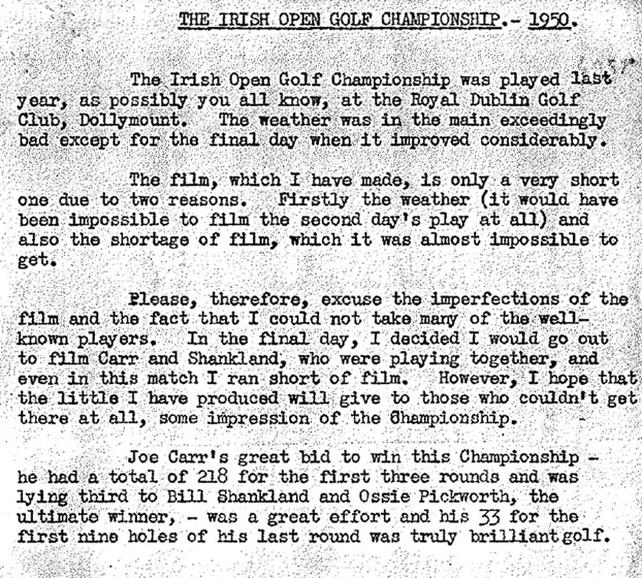 RTÉ Archives | Sports | Irish Open Golf