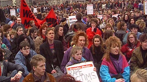 X Case Protest March, Dublin 1992