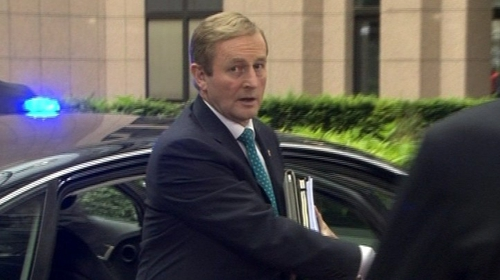 Enda Kenny's party has seen a slight increase in popularity