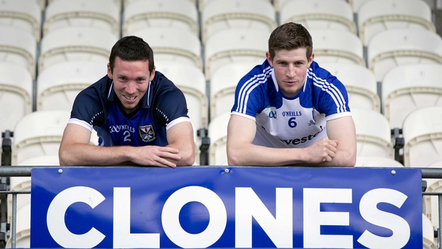Cavan's Ronan Flanagan and Darren Hughes of Monaghan pictured at St Tiernach's Park ahead of their semi-final clash