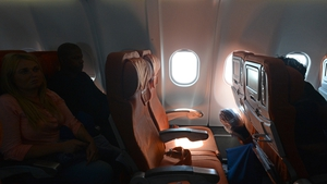 A window seat lies empty after US whistleblower Edward Snowden failed to board a flight from Moscow to Havana