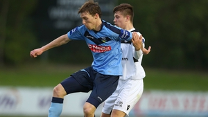 David McMillan, seen here in action against Bohs, scored two this evening against Cork