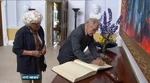 Former hostage Dr Tiede Herrema meets President Higgins in Dublin