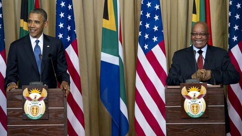 Barack Obama and Jacob Zuma gave a joint press conference after bilateral talks