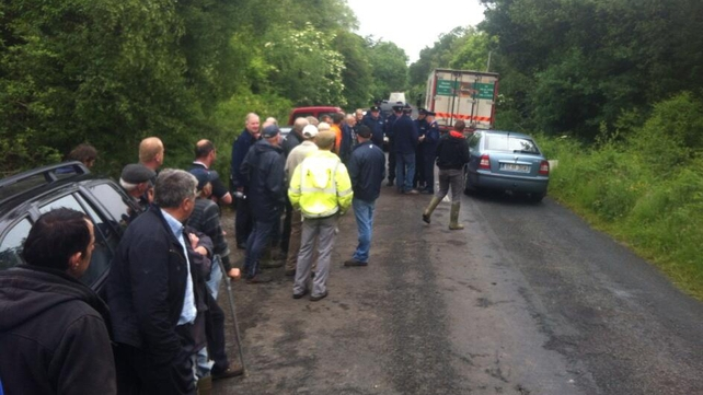 Over 30 turf cutters gathered at a bog at Kilteevan near Roscommon town at the weekend