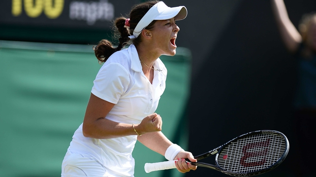 Laura Robson's involvement at Wimbledon goes into a second week