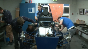 The mostly final-year students have been building their car since last September