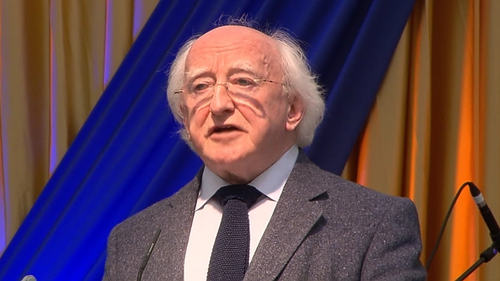 President Higgins said the Irish people will take the country out of the present crisis