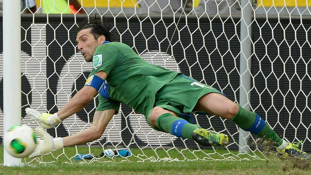 Gianluigi Buffon was the hero for Italy