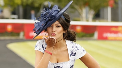 Michelle Keegan judges Best Dressed Lady competition