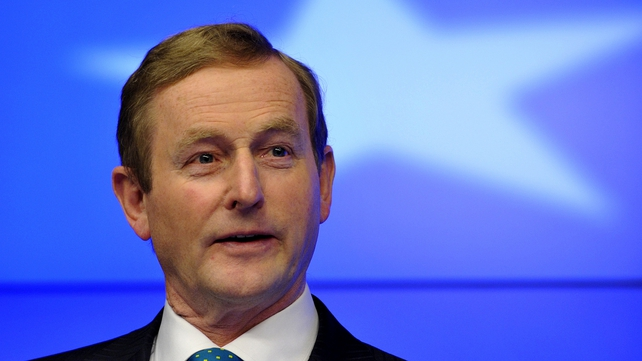 Mr Kenny's speech was effectively the final official engagement of Ireland's presidency of the EU