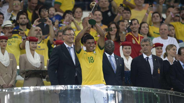 Paulinho was crowned third best player at the Confederations Cup