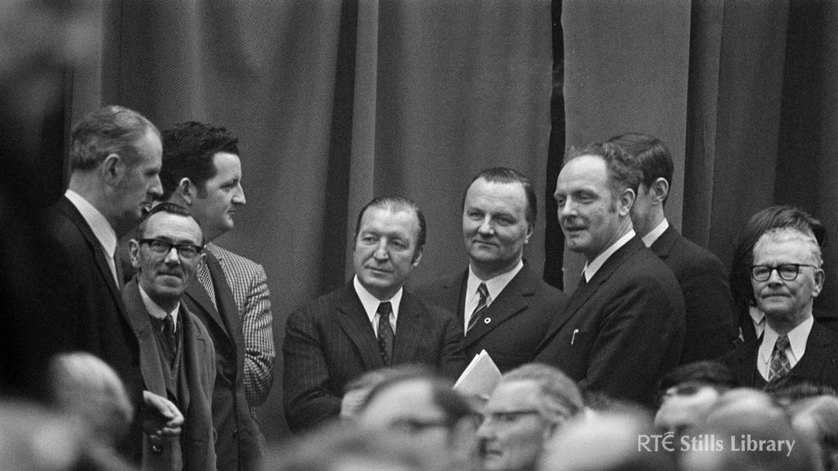 Charles Haughey (centre) but who are his colleagues?