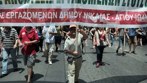Civil servants took to the streets of Athens last week to protest against expected job cuts in the public sector