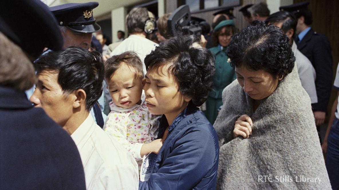 Vietnamese Boat People arriving at Dublin Airport in 1979