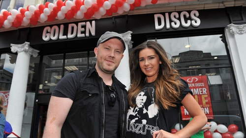 Ryan Sheridan and Miss Universe Cork, Nicola Meldrum, launch new Golden Discs store