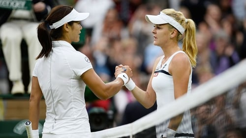 Agnieszka Radwanska (right) was just too strong for Li Na