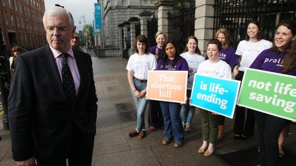 Four Fine Gael TDs, including Peter Mathews (above) voted against the bill