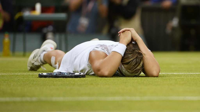 Kirsten Flipkens was overwhelmed after the victory