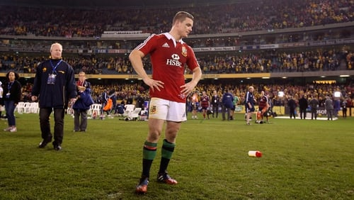 Brian O'Driscoll Lions tour ended in the stands
