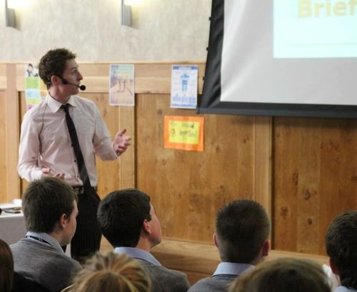 Shane giving one of his motivational talks 'D'MESS'
