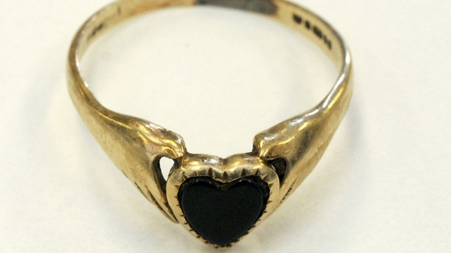 A claddagh ring was found with the remains