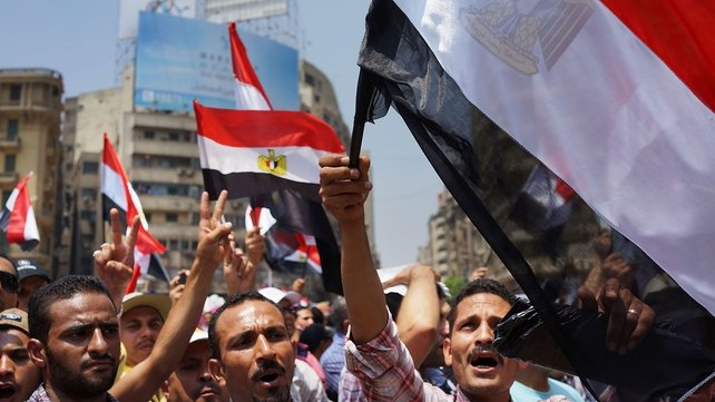 Thousands of Egyptian protesters gathered in Tahrir Square