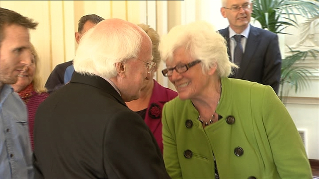 President Michael D Higgins has met with a group of Magdalene Laundry survivors in Áras an Uachtarán
