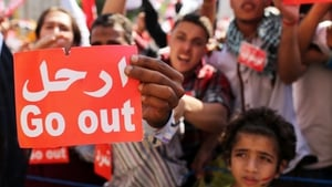 Egyptian protesters had gathered to demand Mr Mursi's resignation