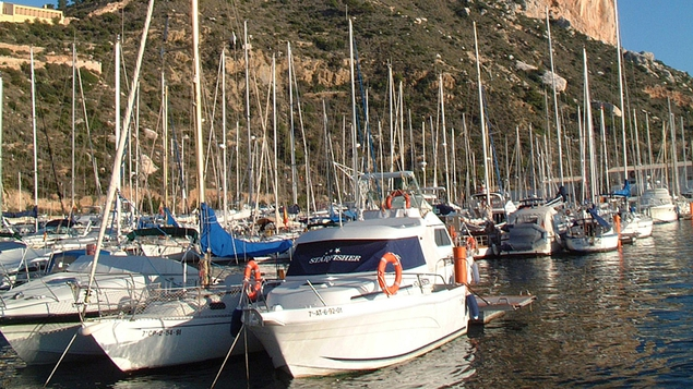 The marina at Club Nautico de Calpe