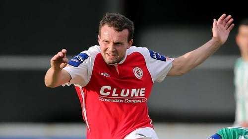 Conan Byrne scored a vital away goal for St Pat's