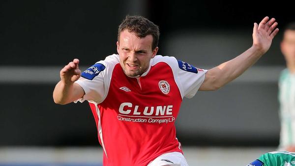 Conan Byrne scored a vital away goal for St Pat's