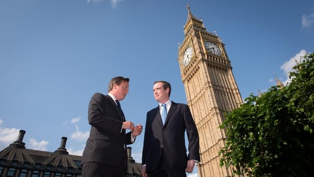 David Cameron with James Wharton, who tabled the bill