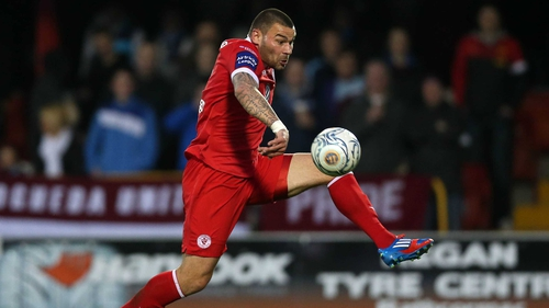 Anthony Elding scored twice for the Bit o' Red