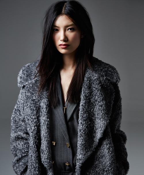 River Island grey furry coat €148 in stores w/c 25th Aug