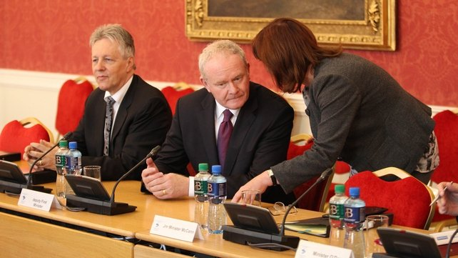 Peter Robinson and Martin McGuinness welcomed the Orange Order's decision