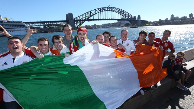 Irish fans in Sydney ahead of the game