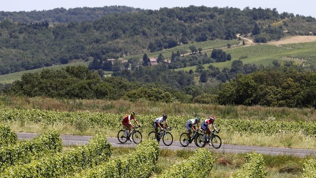Stage 8 was between between Castres and Ax 3 Domaines