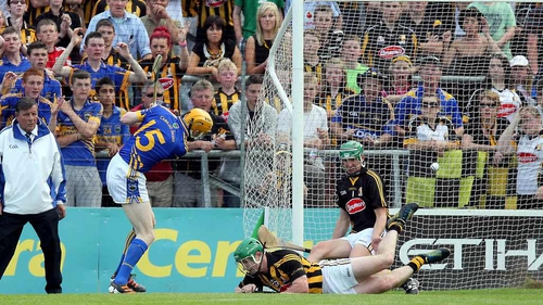 Lar Corbett scored a goal for Tipp but the teams were level at half-time
