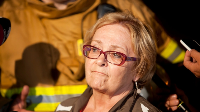 Colette Roy-Laroche, mayor of Lac-Mégantic, speaks during a press conference after the crash