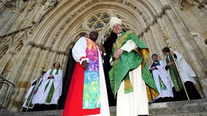 The Archbishop of York (left) and The Archbishop of Canterbury at the Church of England General Synod